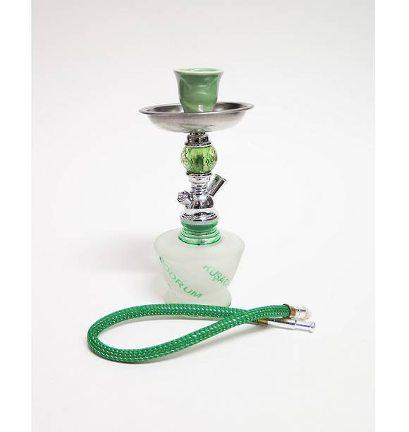 Small Green Words Shisha Pipe with 1 Hose