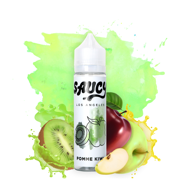 SAUCY ORIGINALS - E-juice POMME KIWI 60ml