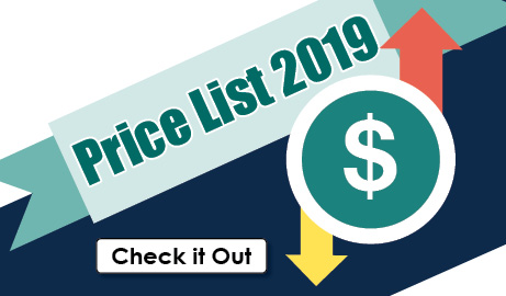 New price list 2019