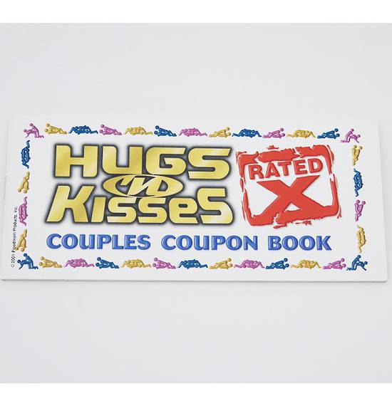 hugs kisses couples coupon book