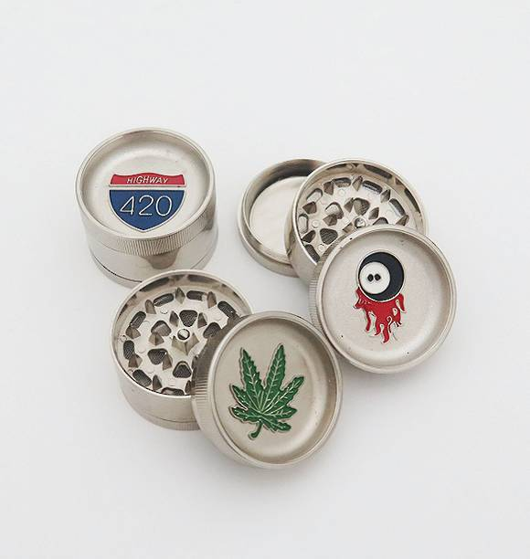 Metal 3 Piece Herbal Herb tobacco Grinder Random Style