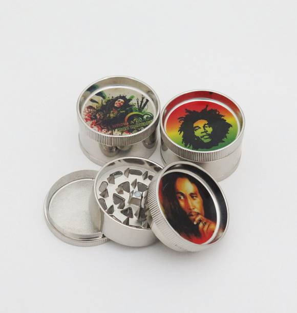 Portable Double-layer 40mm Manual Metal Herb Cigarette Tobacco Grinder #2