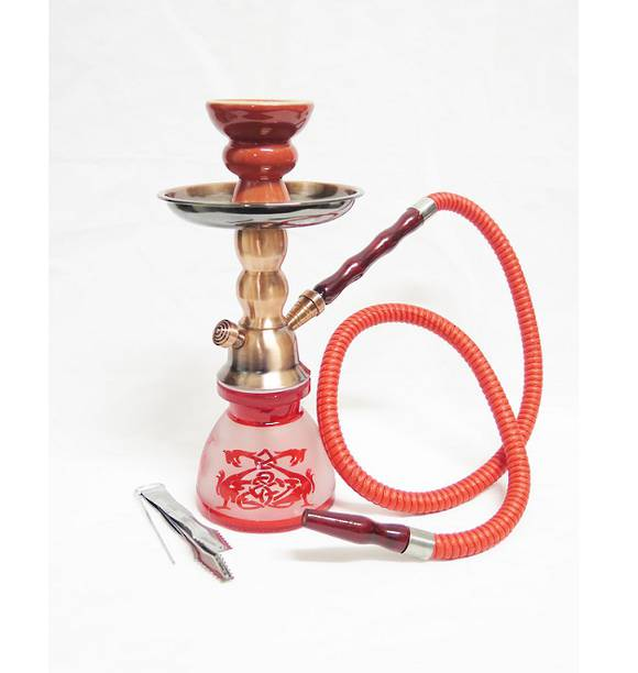 Small Red Dragon Shisha Pipe with 1 Hose
