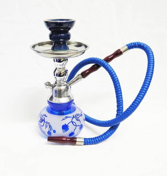 Small Blue Strawberry Shisha Pipe with 1 Hose