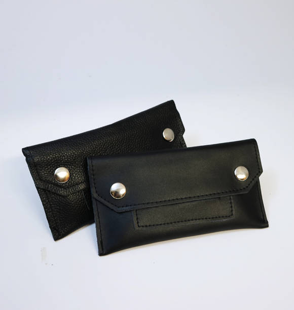 Black Soft Leather Tobacco Pouch