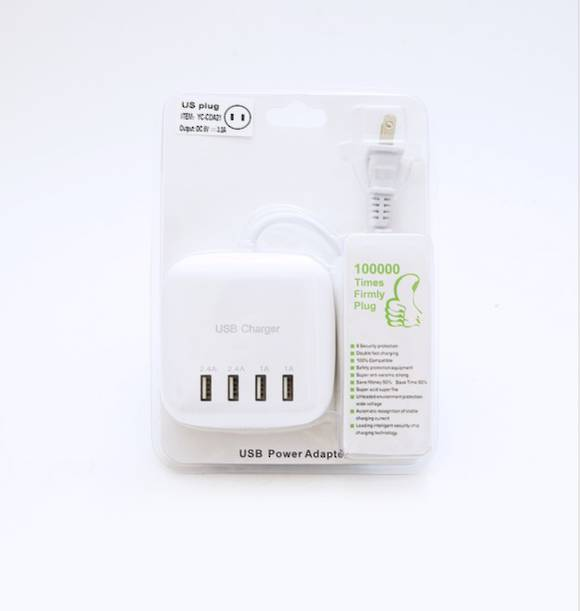 USB Power Adapter 4 Ports (US Plug)