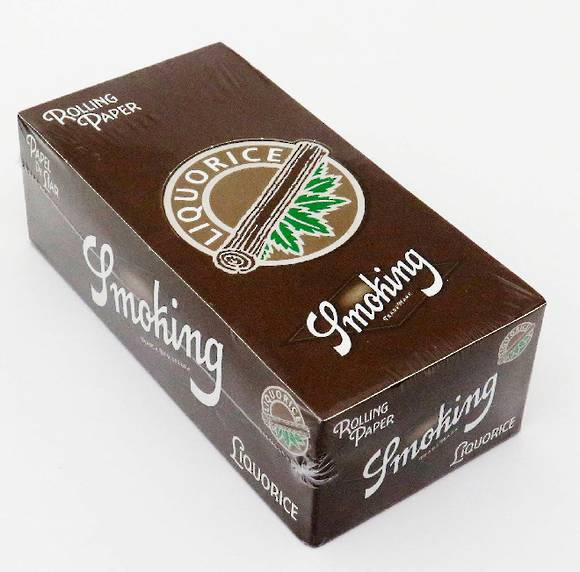 Smoking Liquorice Rolling  Paper  Brown Box - 50 packs