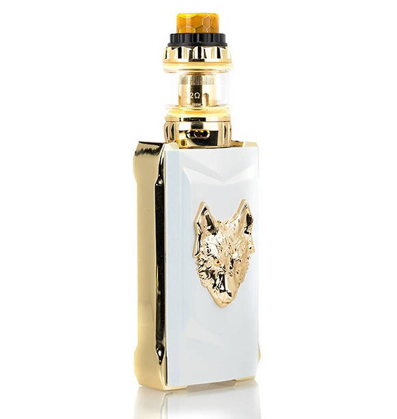 SNOWWOLF MFENG 200W TC STARTER KIT - PEARL WHILE & GOLD